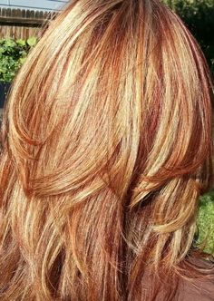 Blonde hair with red highlights hairstyle archives pmusecretfo Images