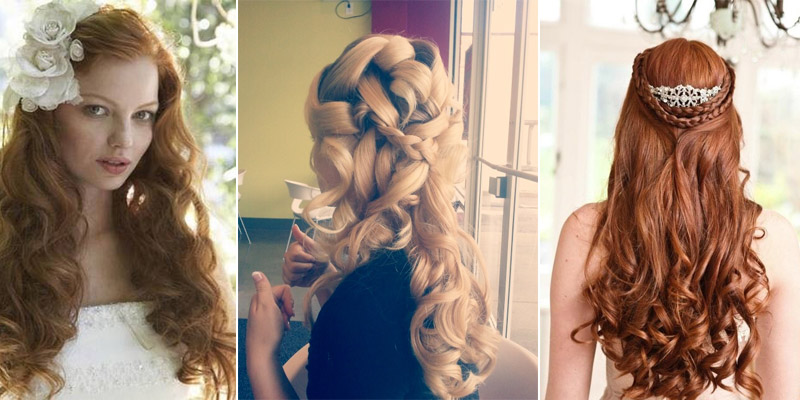 Awesome Long Hair Wedding Styles Down Dos Images - Styles & Ideas ...