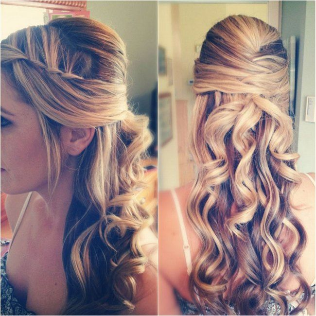 Prom Hairstyle For Long Hair Half Up Half Down Hairstyle Archives
